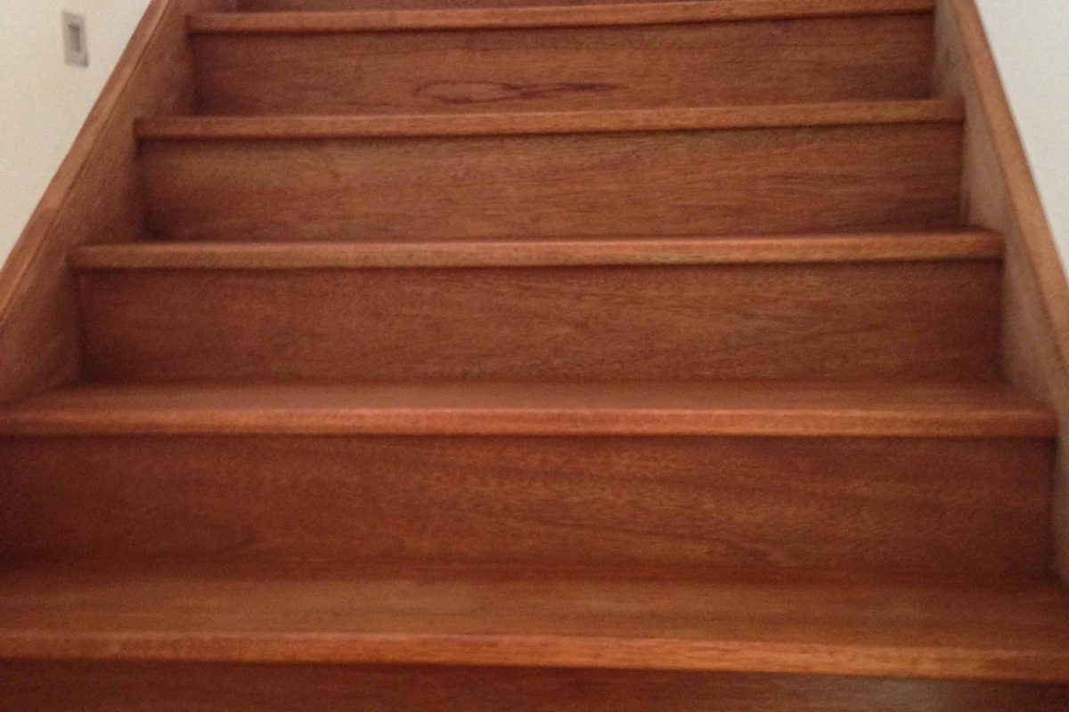 stairs after paint