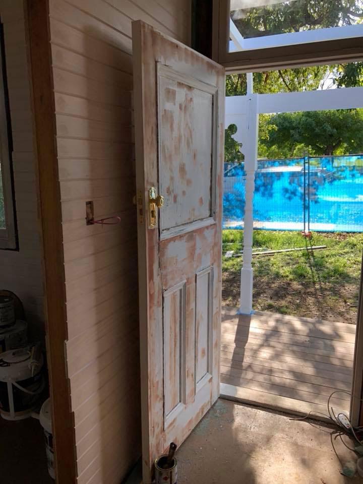 door before paint